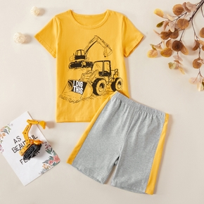 2pcs Kid Boy Short-sleeve Cotton Shorts Suit casual Suits