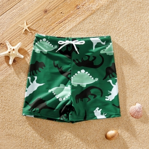 Fashionable Kid Boy Dinosaur Print Trunks Shorts