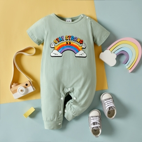 Baby Rainbow Pretty Short-sleeve Jumpsuit