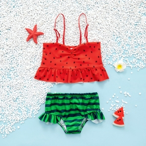 2-piece Toddler Girl Watermelon Camisole and Briefs Set