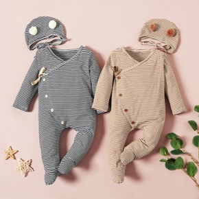 Baby Unisex casual Stripes Jumpsuits