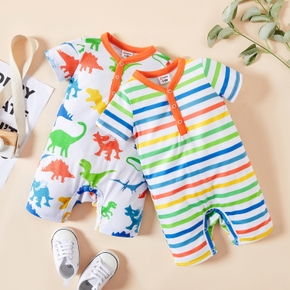 1pc Baby Boy Short-sleeve Cotton casual Animal&Dinosaur Rompers & Bodysuits