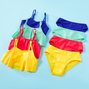 Kid Girl Multi-color Tank Swimsuit