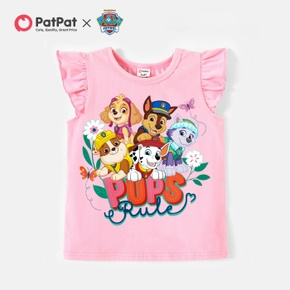 PAW Patrol Toddler Girl Floral and Brave Pups Cotton Tee