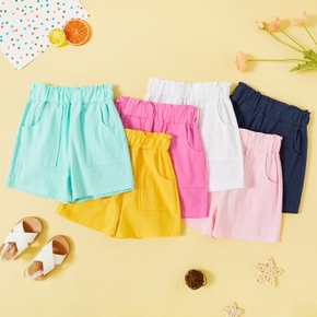 Toddler Girl Casual Solid Shorts