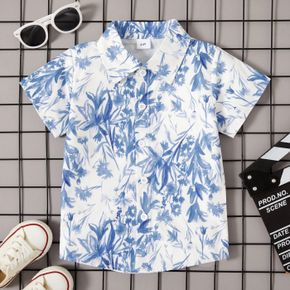 Toddler Boy Elegant Print Shirt