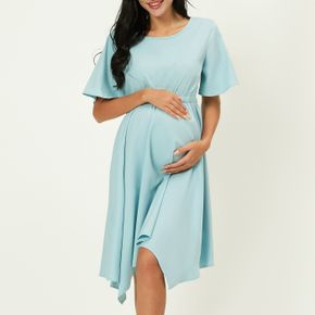 Maternity casual Print Round collar A Short-sleeve Dress