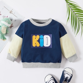 1pc Baby Boy Long-sleeve Cotton casual Letter Pullovers & Hoodies