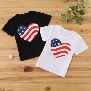 Baby / Toddler Independence Day US Flag Heart Print Tee