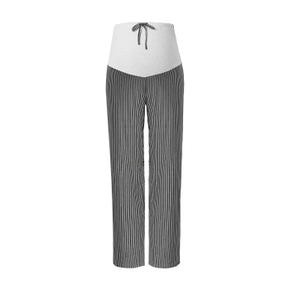 Maternity casual Stripes full print Light Grey Casual pants