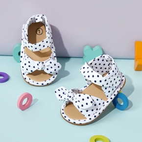 Baby / Toddler Polka Dots Bowknot Velcro Closure Sandals