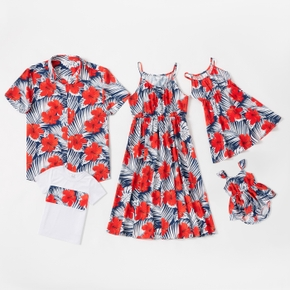 Tenues Assorties Costume Bohême Manche Courte Col Rond Type normal Floral