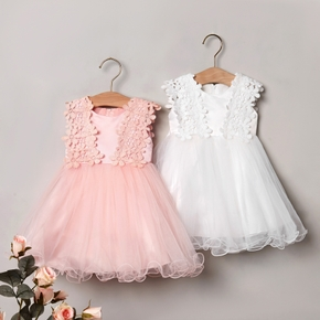Solid Tulle Elegant Formal Costumes Sleeveless Baby Dress