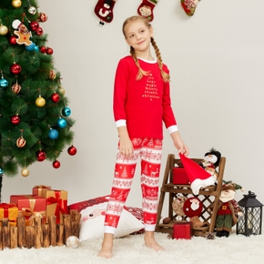 Stylish Christmas Letter Print Sweatshirt and Striped Allover Print Pants Set with Hat