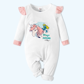Smurfs Baby Girl Flounce Romper/One Piece