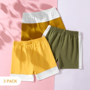 3-piece Toddler Boy casual Splice Cotton Shorts