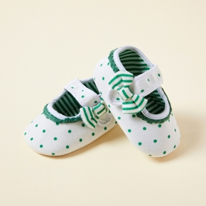 Baby / Toddler Polka Dots Bowknot Slip-on Prewalker Shoes
