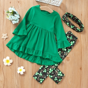 3-piece Baby / Toddler Girl Clover Set of St. Patrick's Day
