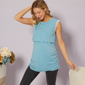 PATPAT Lace Sleeveless Maternity Nursing Top