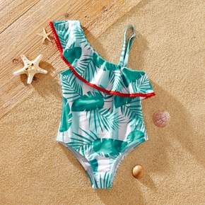 Kid Girl Floral Stripes Swimsuit