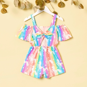 Toddler Girl Unicorn Stars Print Jumpsuit