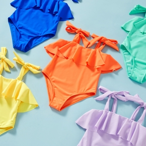Toddler Girl Tank Solid Swimsuit