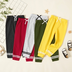 Toddler Girl/Boy Striped Bowknot Elasticized Casual Pants Sweatpants