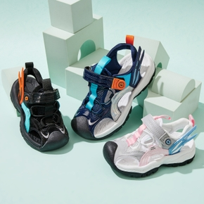 Kid Velcro Closure Breathable Sports Shoes
