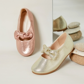 Toddler / Kid Solid Bowknot Slip-on Shoes