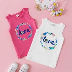 Letter Print Tank Top for Toddlers / Kids