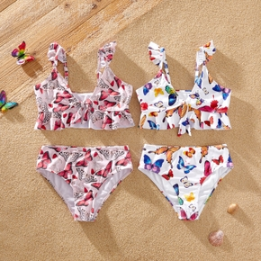 Pretty Kid Girl Animal Colorful Butterfly Swimsuit