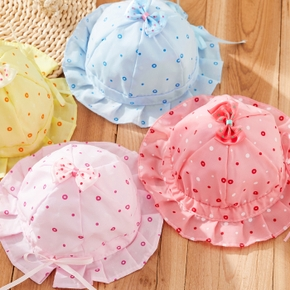 Baby Flounced Polka Dots Hat