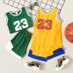 2-piece Toddler Boy Sporty Number Camisole and Shorts Set