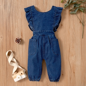Baby Girl straight Jumpsuits Spring Autumn Baby Clothes Cowboy Pant Casual Newborn Outfit