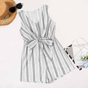 Maternity casual Stripe Print Jumpsuit