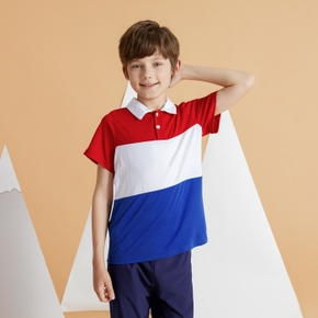Kid Boy Color-block Polo Shirt