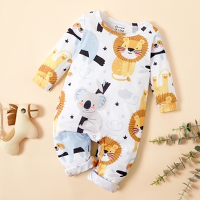 Baby Lion and Koala Allover Jumpsuits