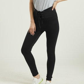 Adjustable Laced-up waist Leggings