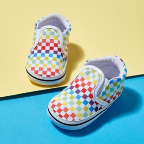 Baby / Toddler Colorful Grid Slip-on Canvas Shoes