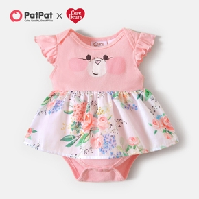 Care Bears Baby Girl Floral Cotton Bodysuits/Romper