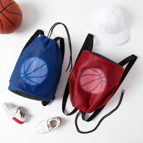 Basketball Print Outdoor Sports Backpack Drawstring Bag for Toddlers / Kids