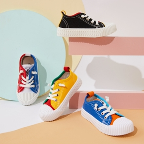 Toddler / Kid Colorblock Canvas Shoes