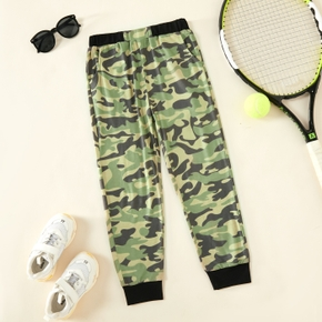 Kid Boy Camouflage Elasticized Joggers Casual Pants Sweatpants with Pocket