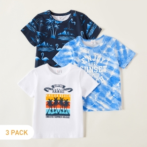 3-piece Kids Vacation Tie Dye Tees