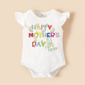 Care Bears Baby Girl Happy Mother's Day Floral Cotton Bodysuit