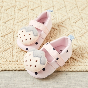 Baby / Toddler Cartoon Polka Dots Velcro Closure Prewalker Shoes