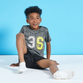 Number '36' Print Short-sleeve Top ans Shorts Athletic Set for Toddlers / Kids