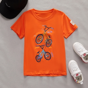 Bicycle Print Short-sleeve T-shirt for Toddlers / Kids