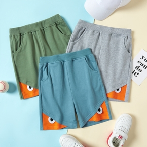 Color Block Athleisure Shorts for Toddlers/Kids