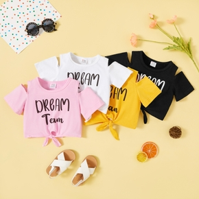 Toddler Girl Casual Letter Tee